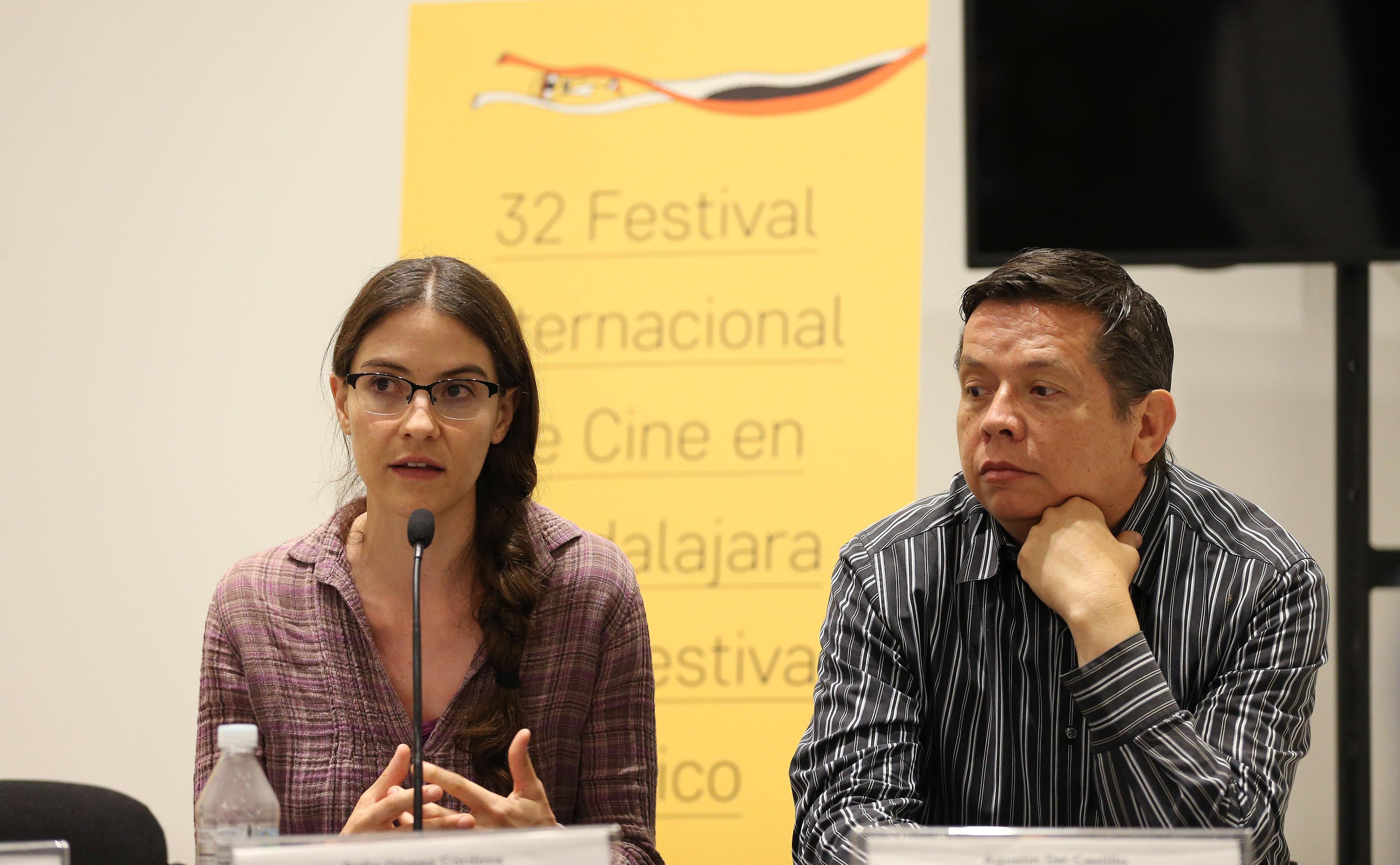 Sofía Gómez Córdova en la presentación numero 86 de la revista literaria de la Universidad de Guadalajara (UdeG), en el marco del 32 Festival Internacional de Cine en Guadalajara (FICG)