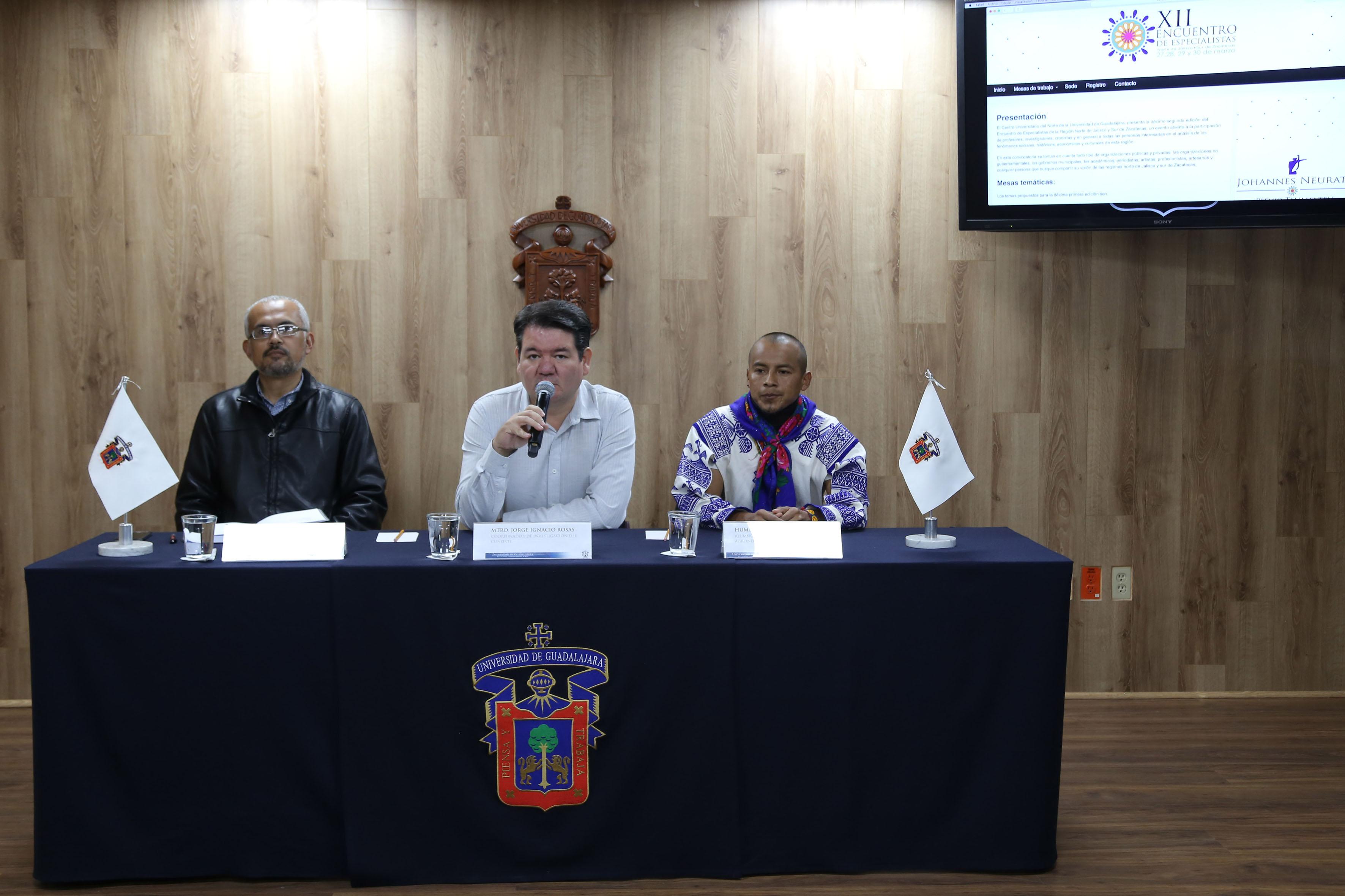 Rueda de prensa para anunciar el XII Encuentro de Especialistas de la Región Norte de Jalisco y Sur de Zacatecas