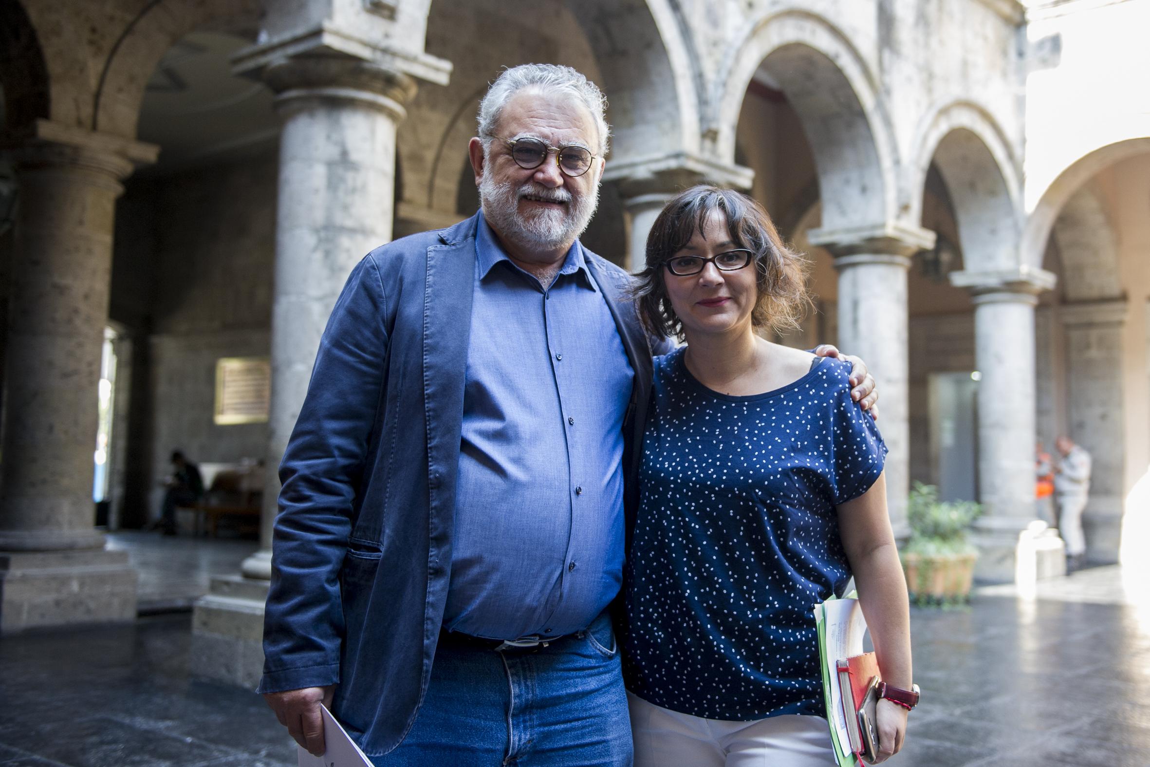 Iván Trujillo Bolio, director del FICG y Susana Chávez Brandon