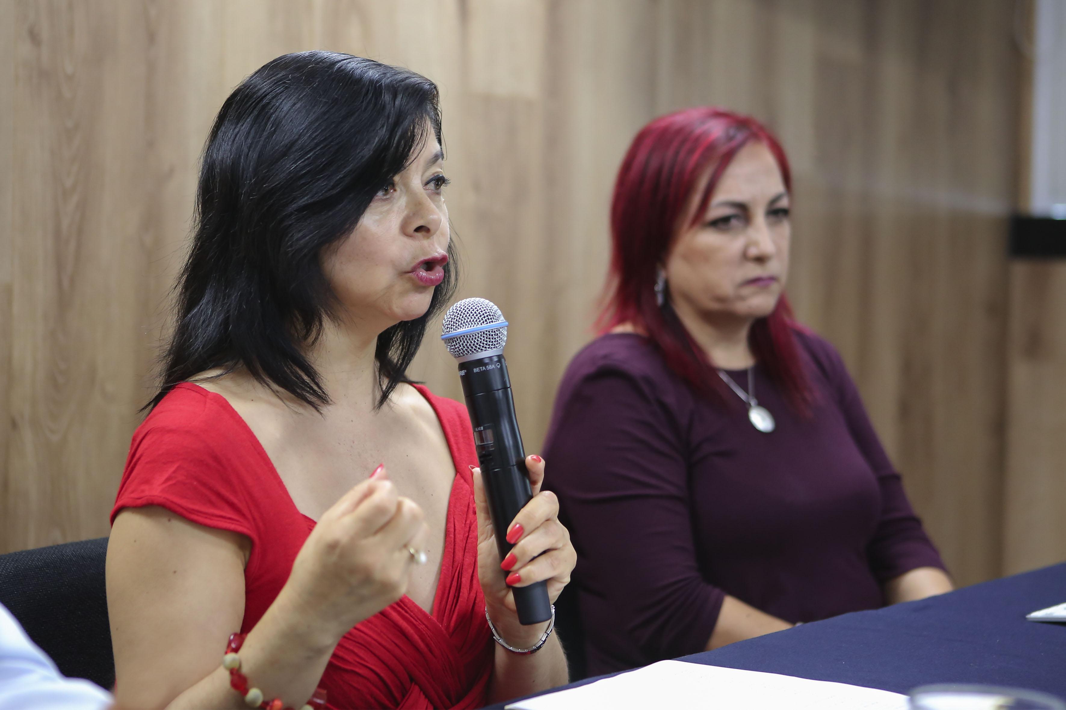 doctora Marisela Hernández González haciendo uso de la palabra