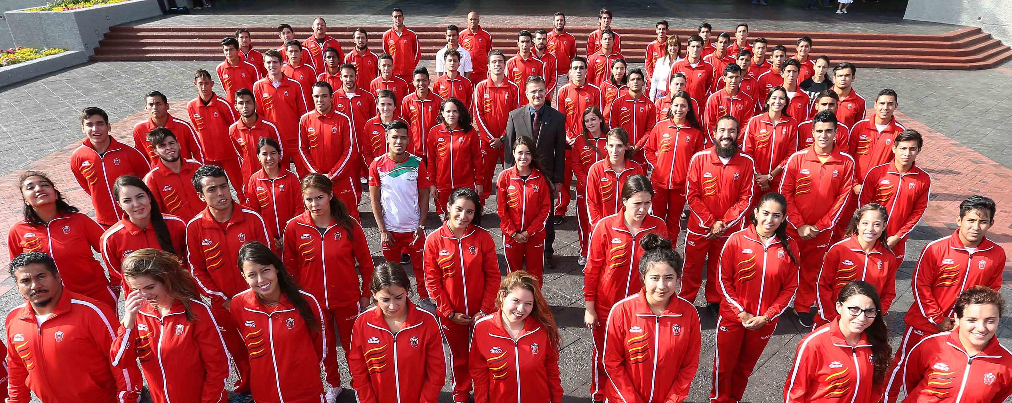 Atletas de la Universidad de Guadalajara que representaron a México en la Universiada Mundial.