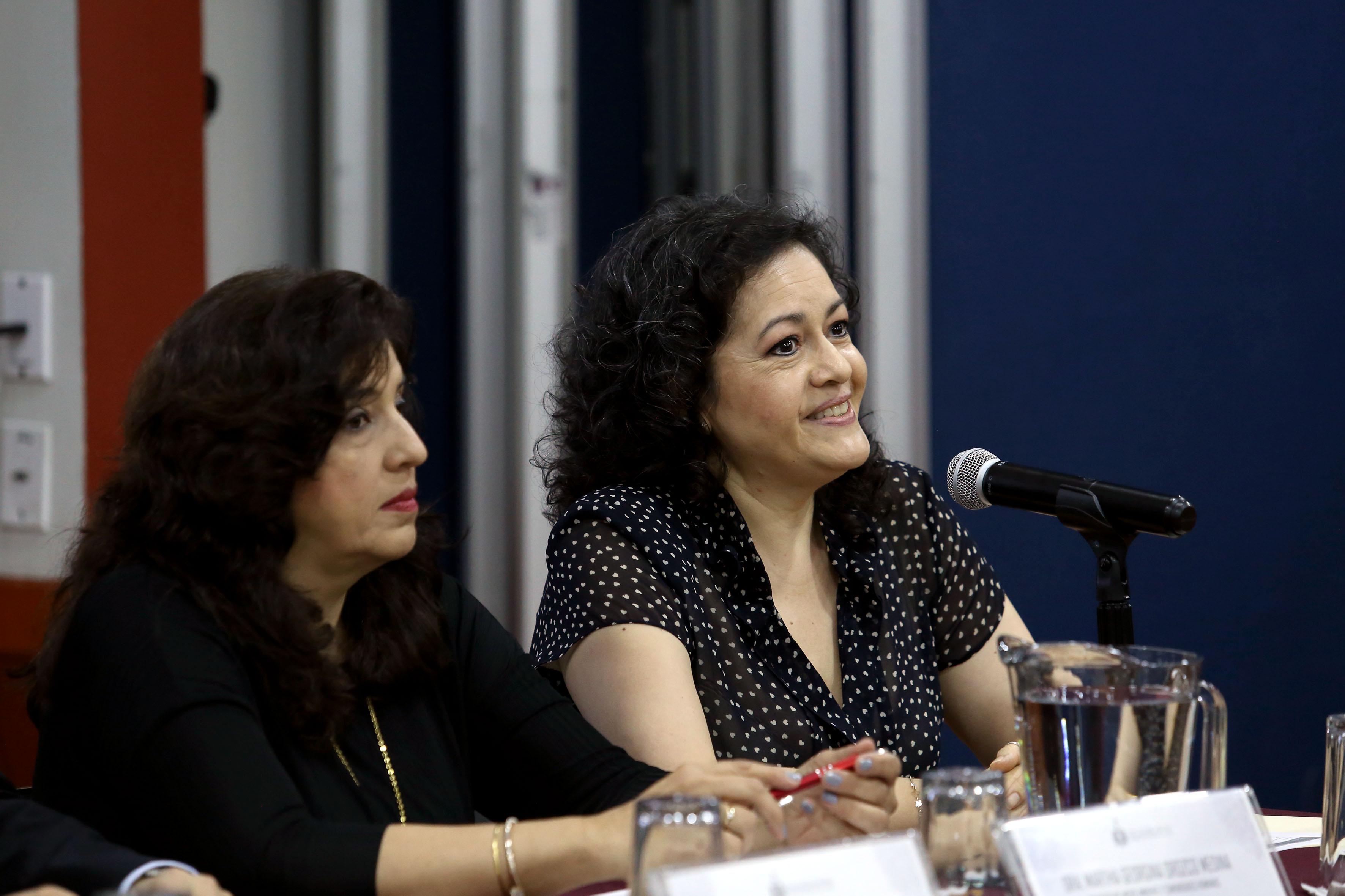 doctora Graciela Gudiño barrera haciendo uso de la palabra