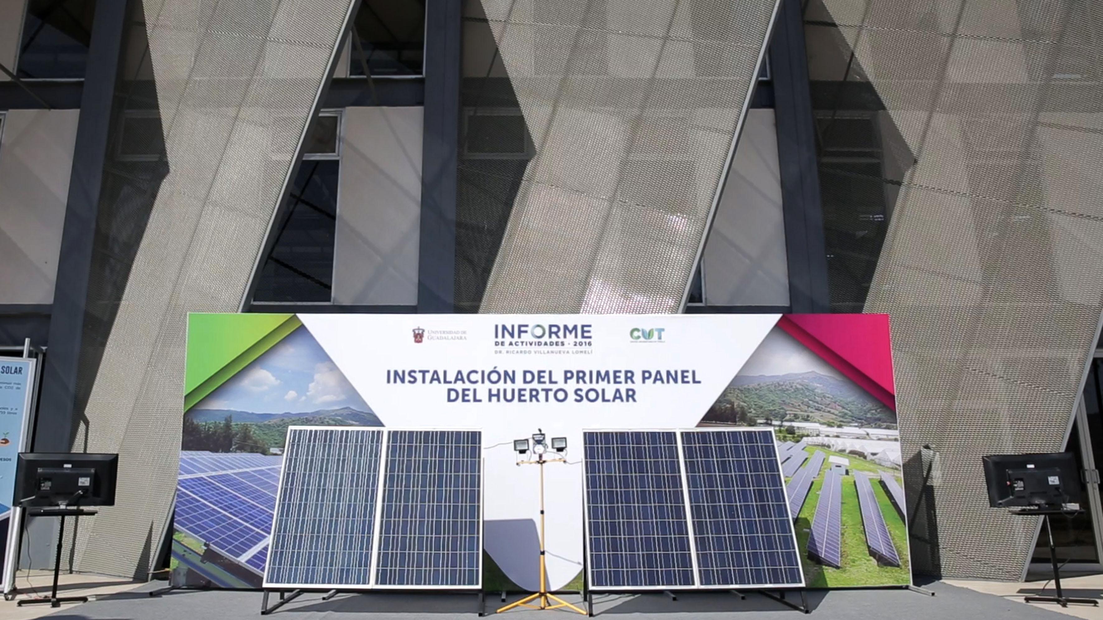 Acto inaugural de la Instalación del huerto solar, en el Centro Universitario de Tonalá (CUTonalá).