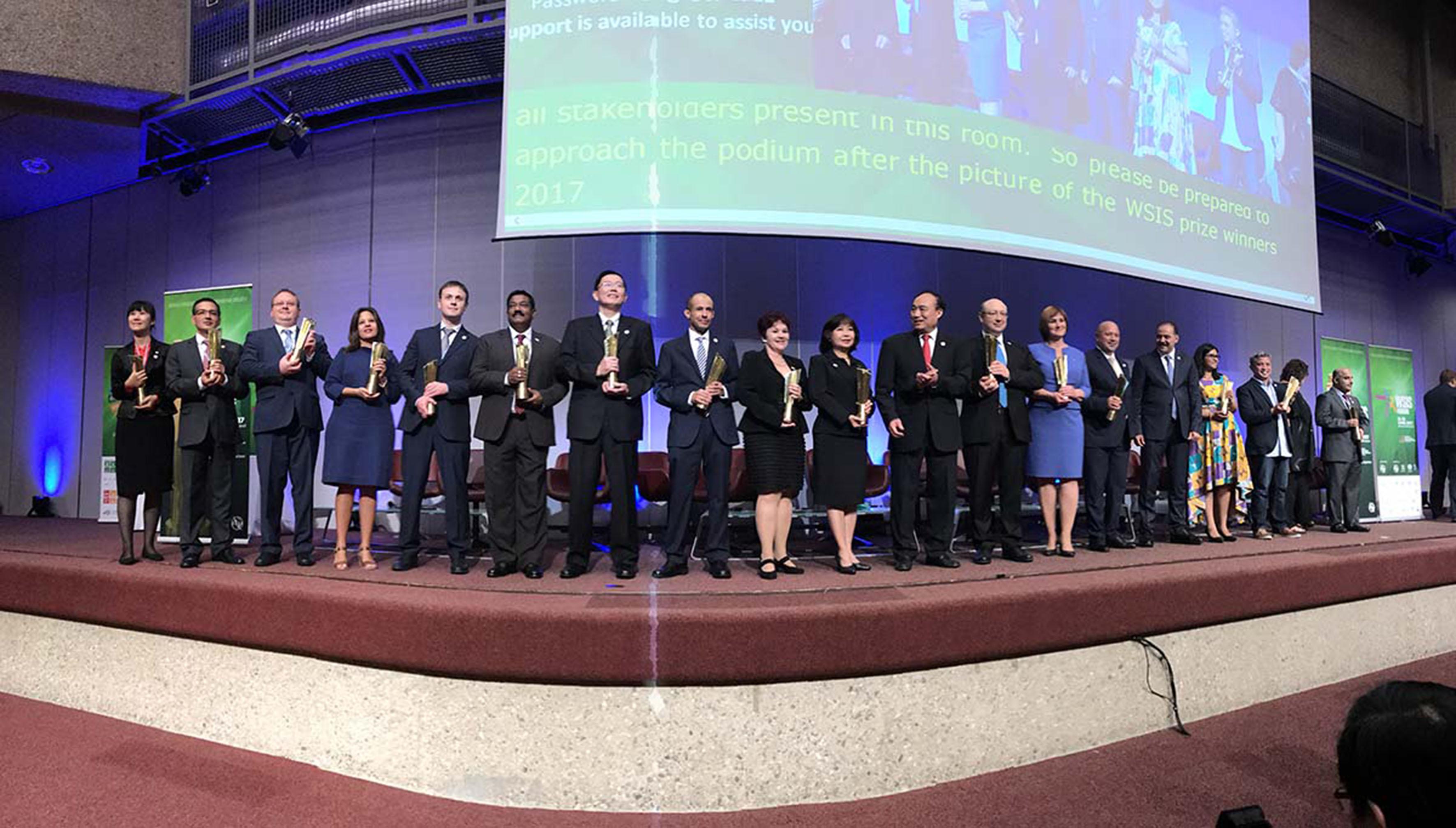 Ceremonia encabezada por el Secretario General de la UIT, Houlin Zhao.