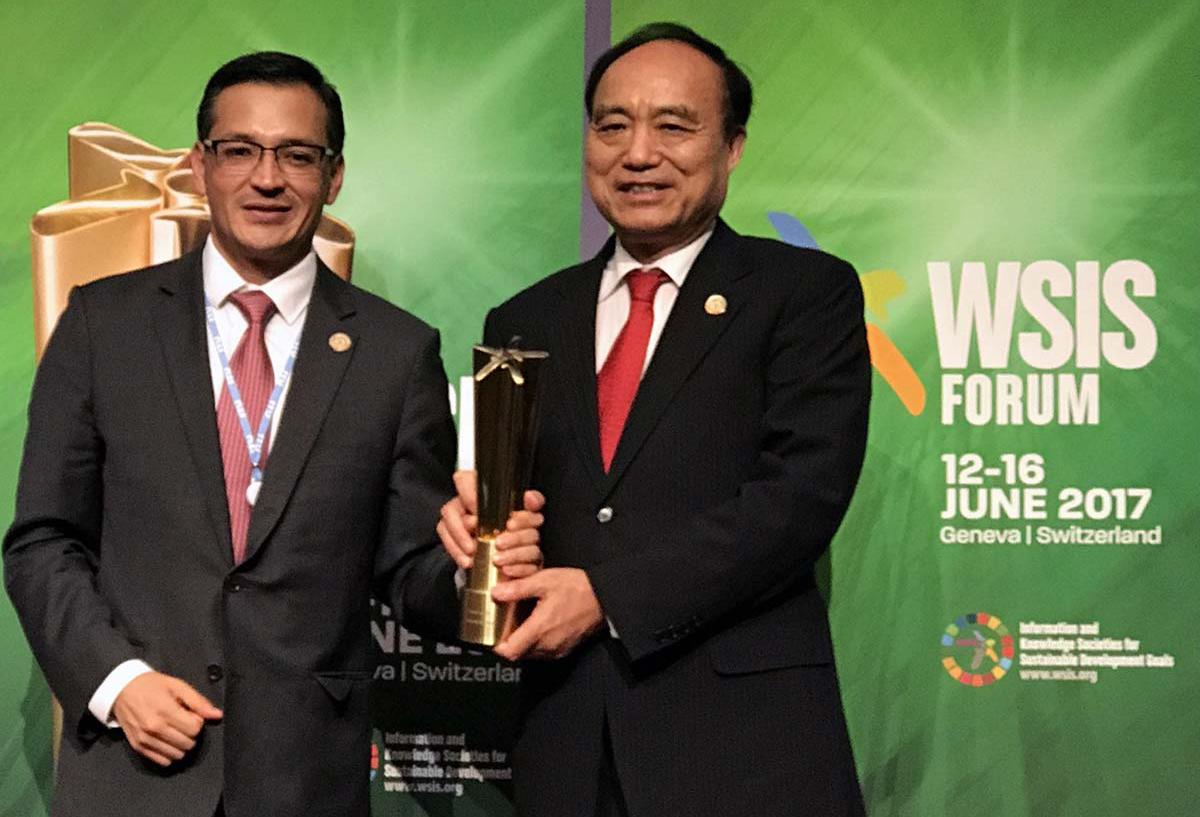"""Centros de inclusión digital conocidos como """"Puntos México Conectado"""" (PMC) obtuvieron el premio de la Unión Internacional de Telecomunicaciones (UIT)"""