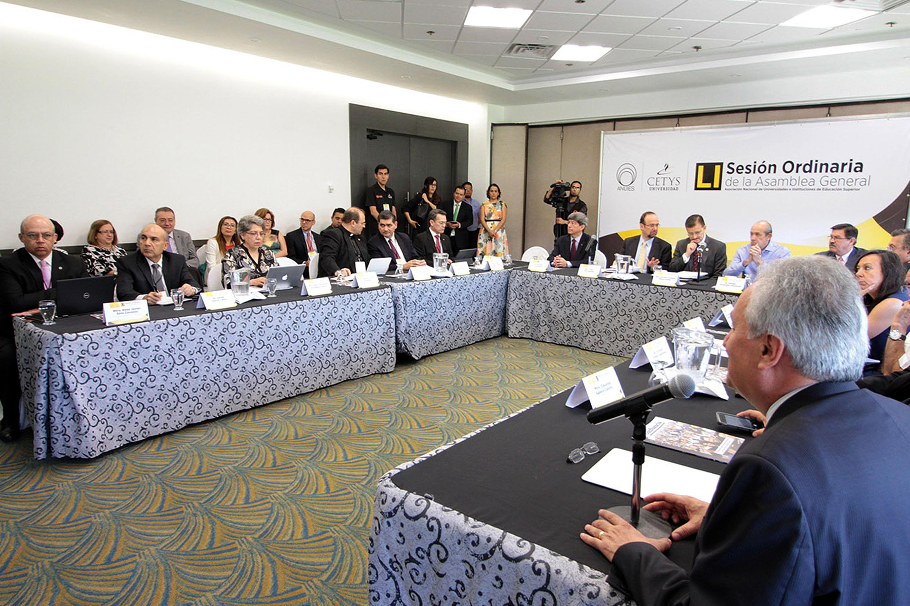 Sesión Ordinaria del Consejo de la Asociación Nacional de Universidades e Instituciones de Educación Superior (ANUIES), con sede en la ciudad de Tijuana, Baja California.