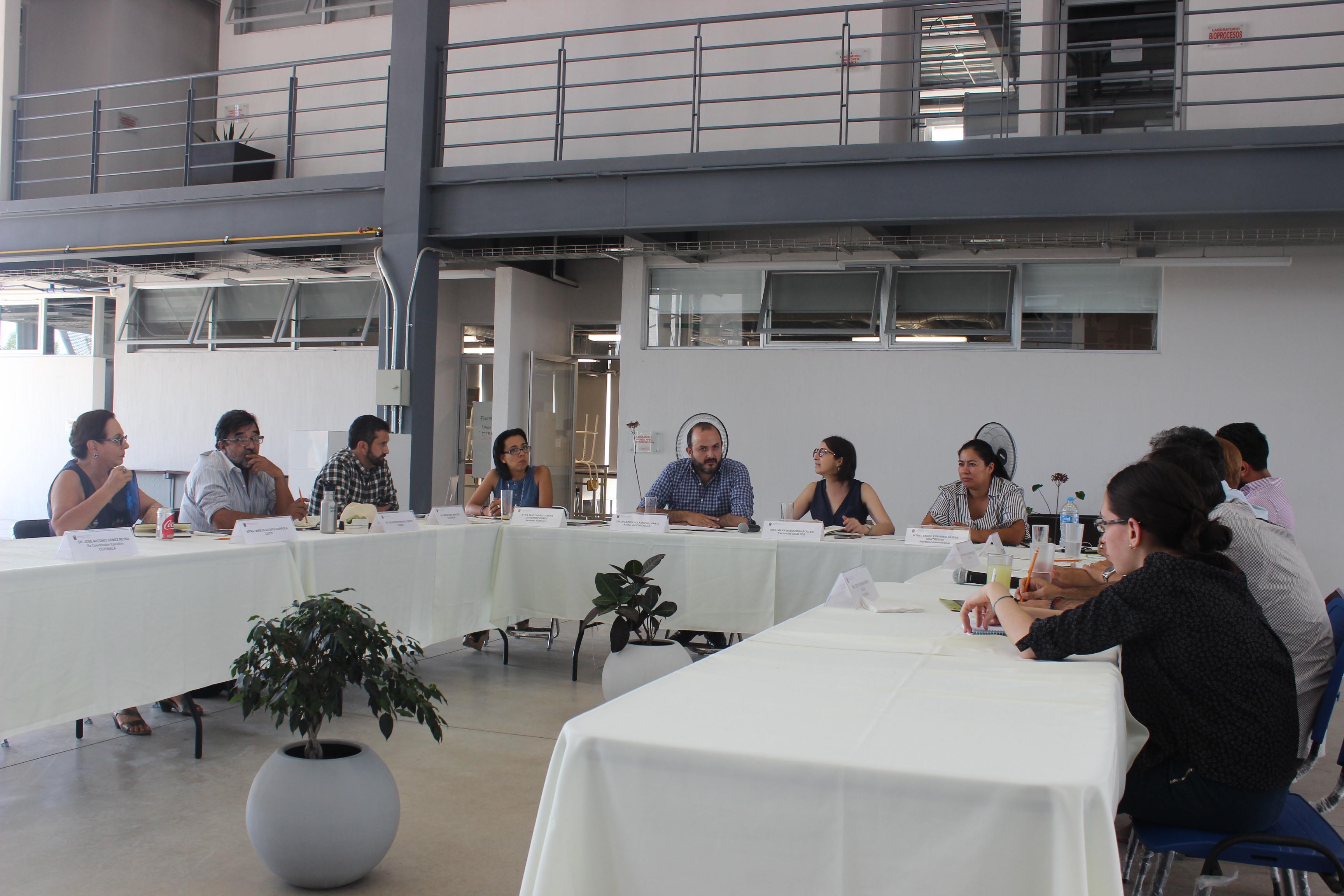 Comité Universitario de Agua y Energía, integrado por expertos en la materia, en reunión.