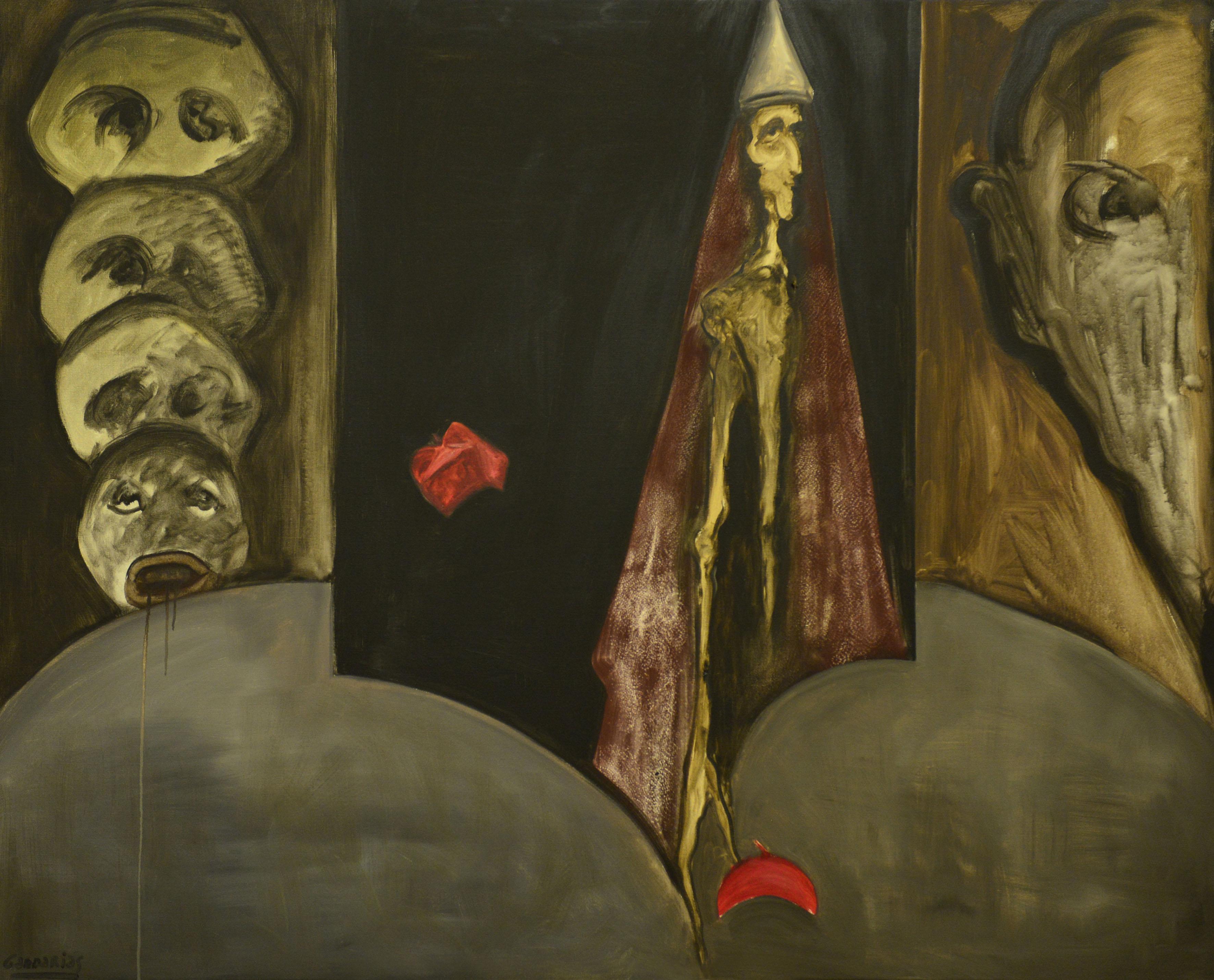 Obra de arte de la pintora española Sofía Gandarias, inspirada en el relato homónimo de Miguel de Cervantes