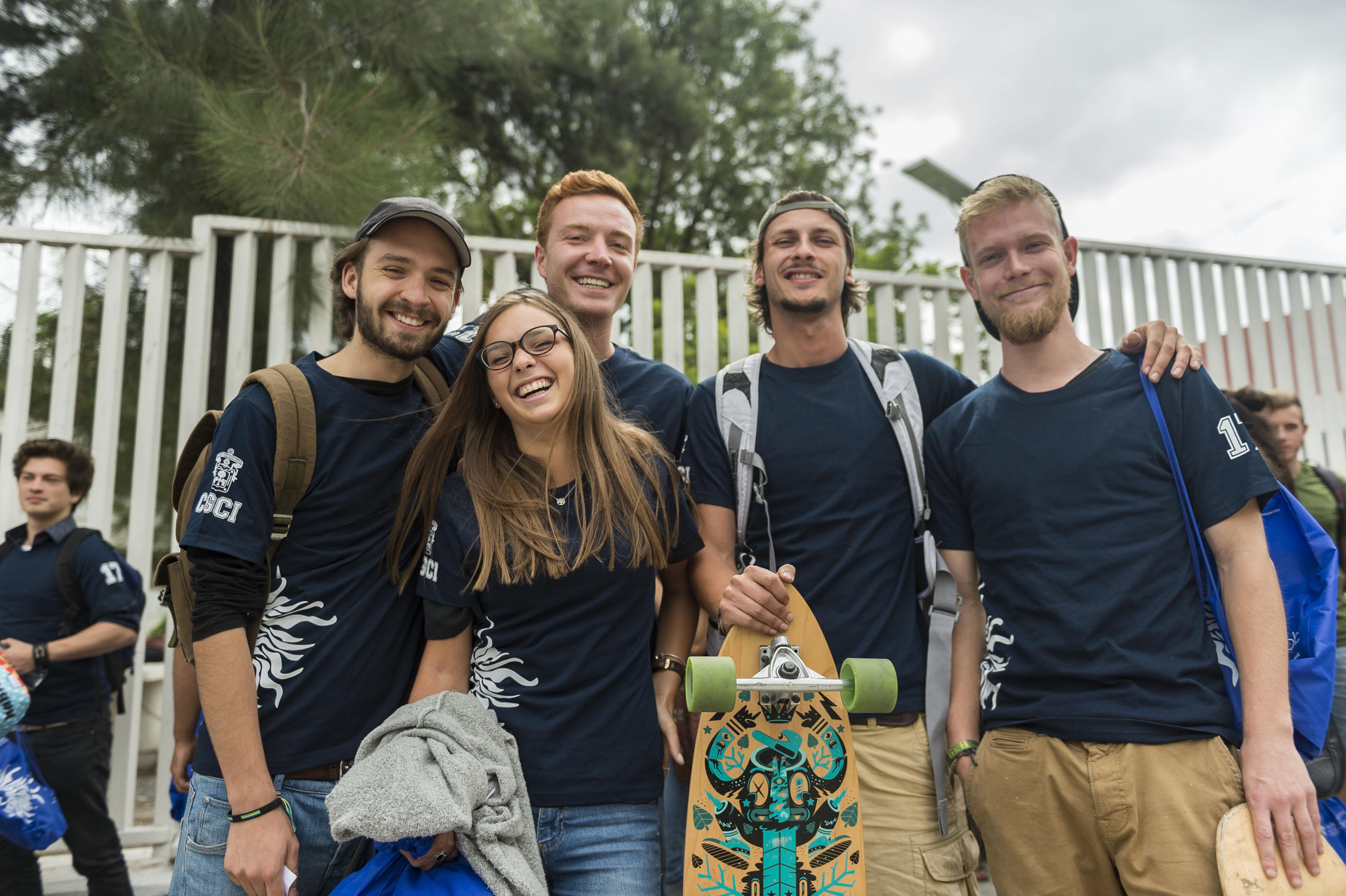 Grupo de estudiantes extranjeros.