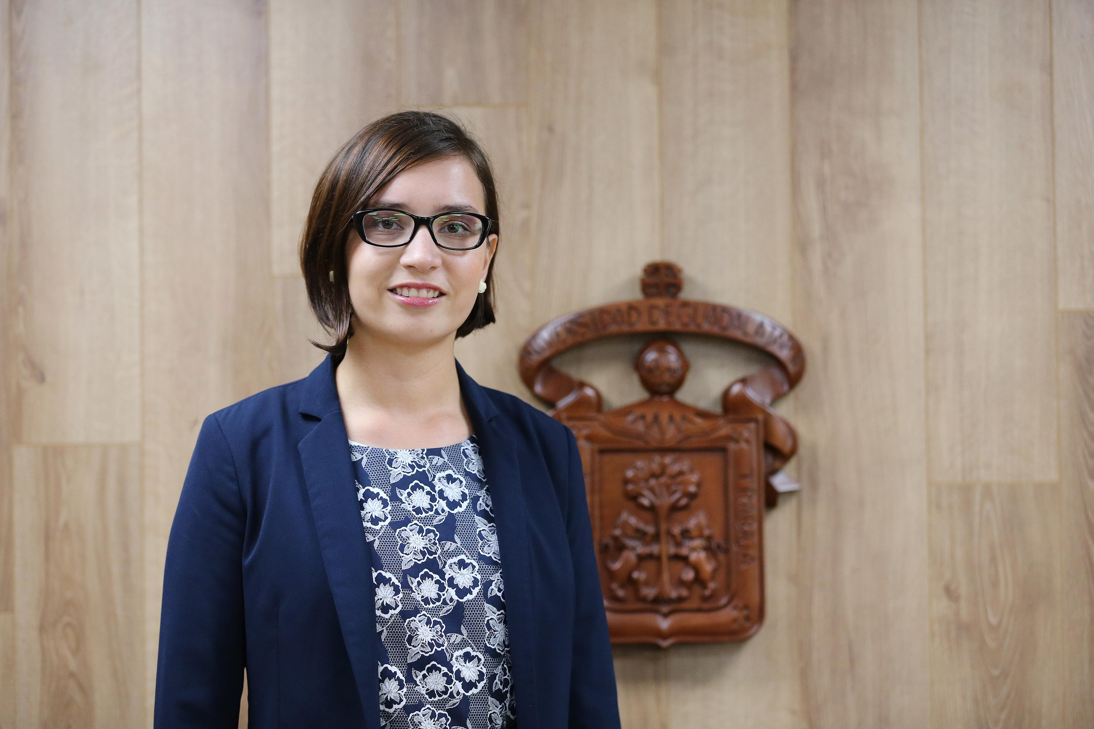 Cristina Patricia Carrasco Acosta, estudiante de Derecho en el CUCSH.