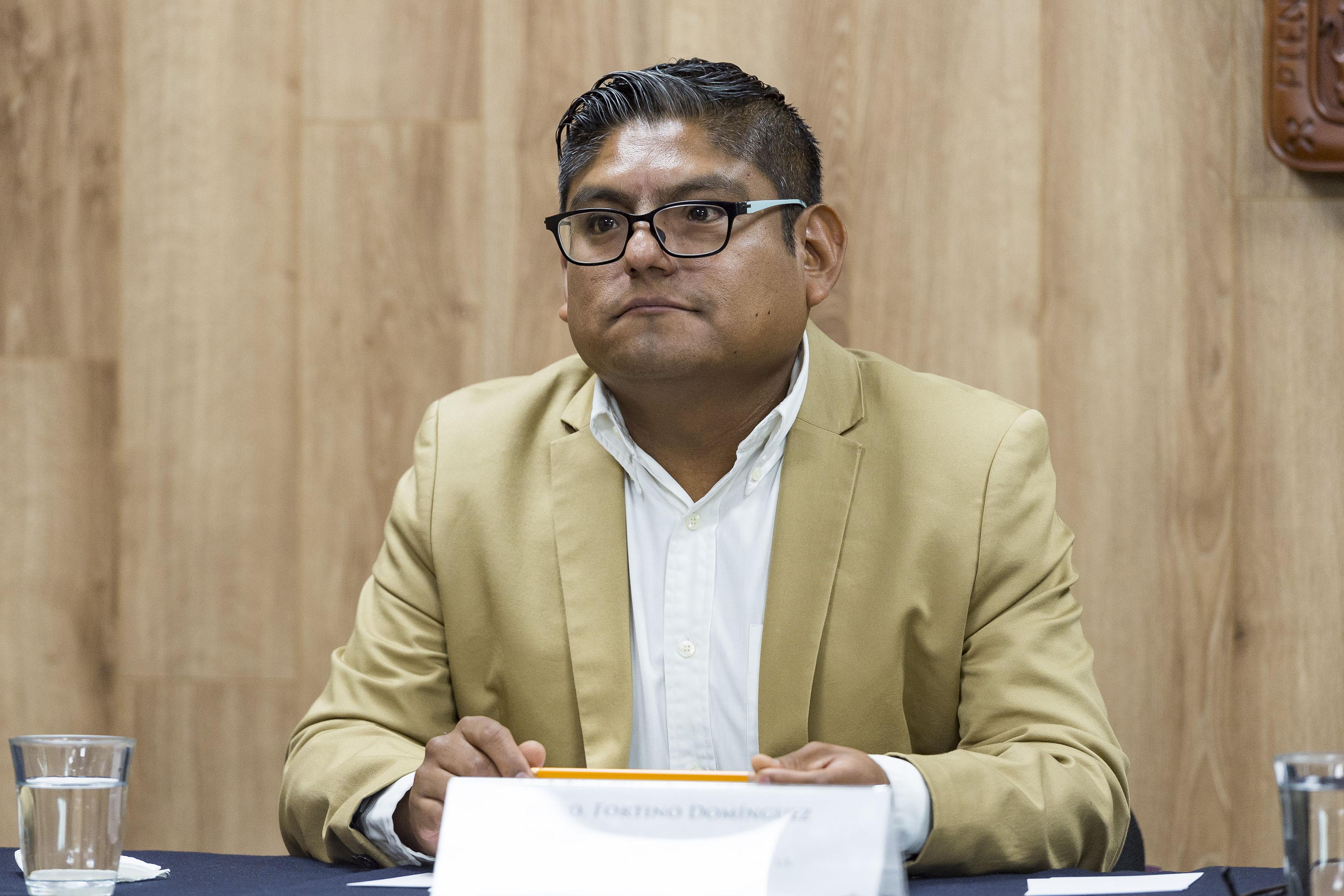 Coordinador de la Cátedra de la Interculturalidad, de la Universidad de Guadalajara (UdeG), maestro Fortino Domínguez Rueda.