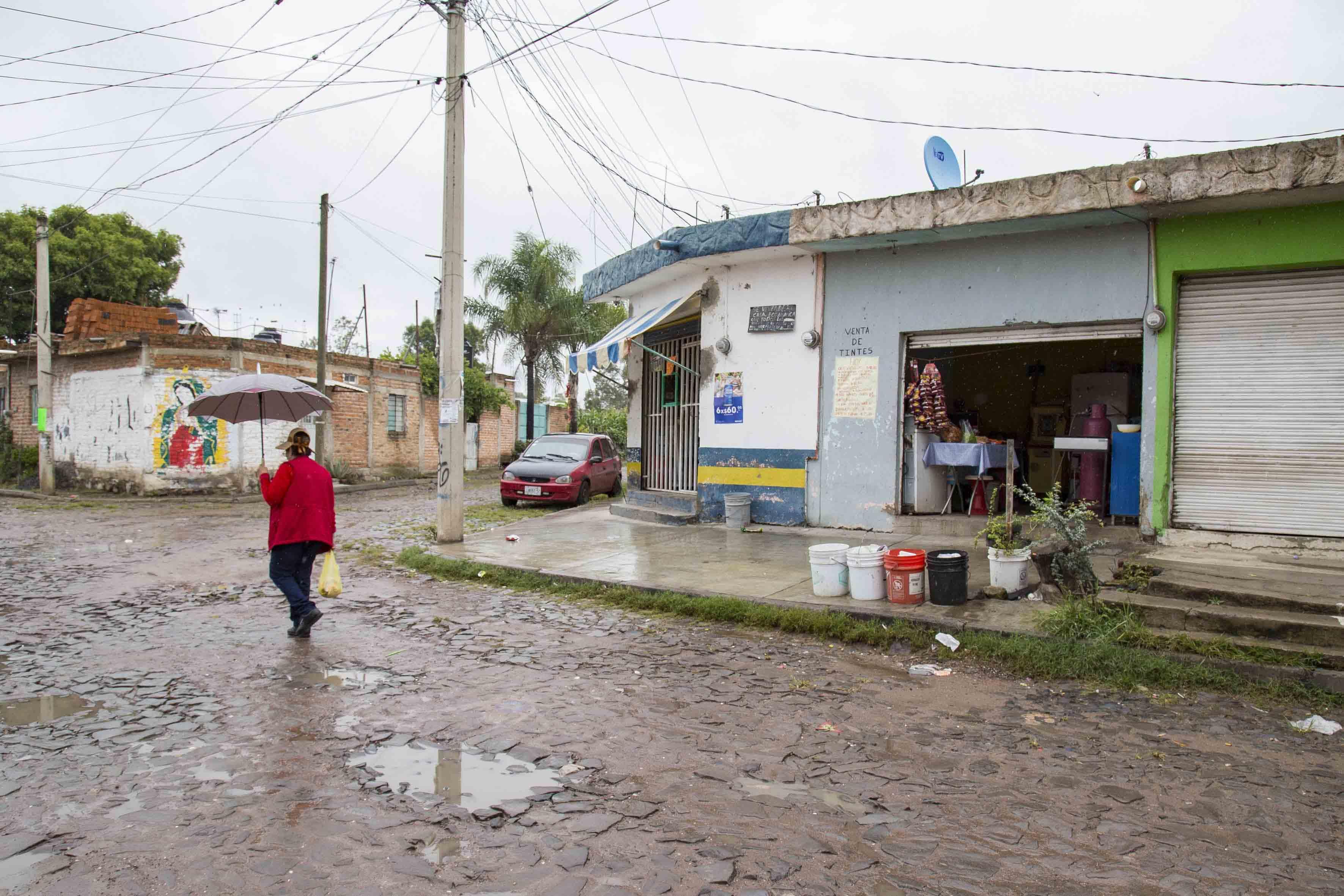 Calle empedrada del municipio del Salto.