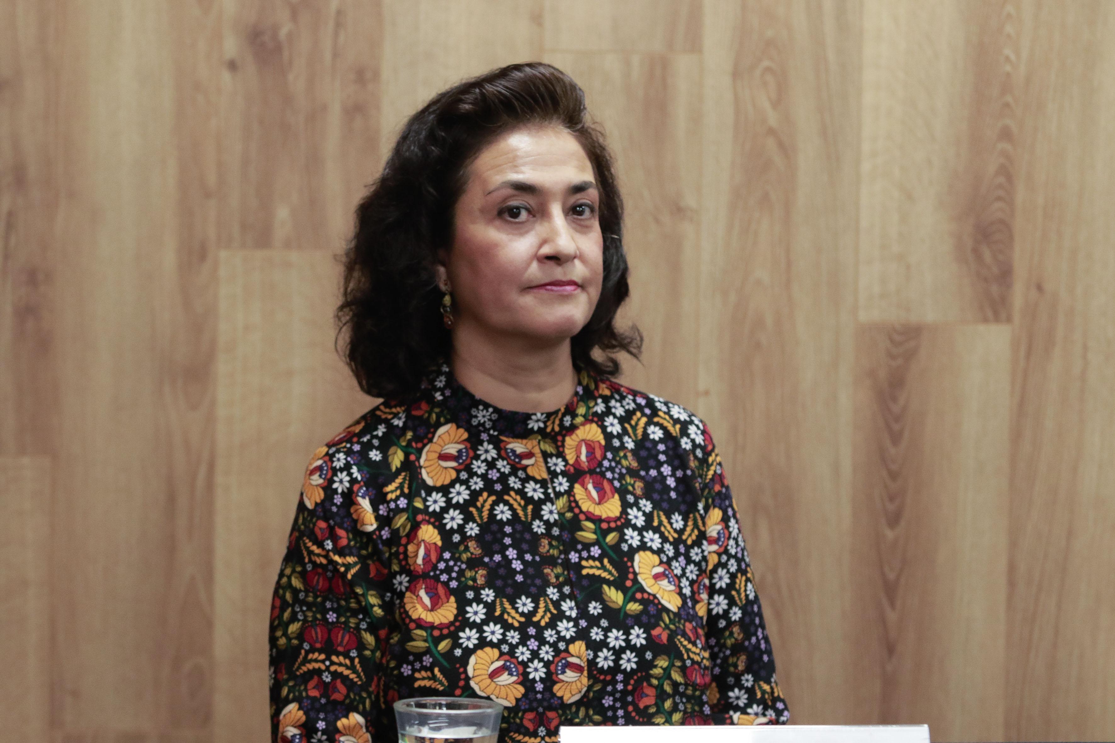 Maestra Celina Esmeralda Lara Hernández, miembro de la Unidad de Desarrollo de la Red, de la Coordinación General de Tecnologías de la Información.