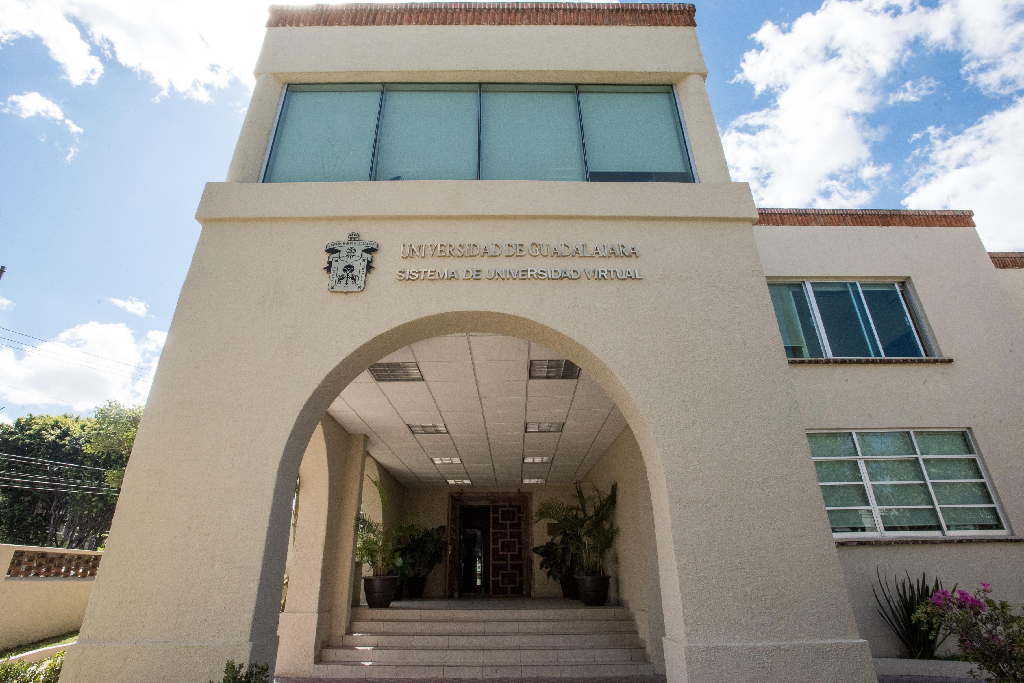 Acceso a las instalaciones del Sistema de Universidad Virtual dependiente de la Universidad de Guadalajara.