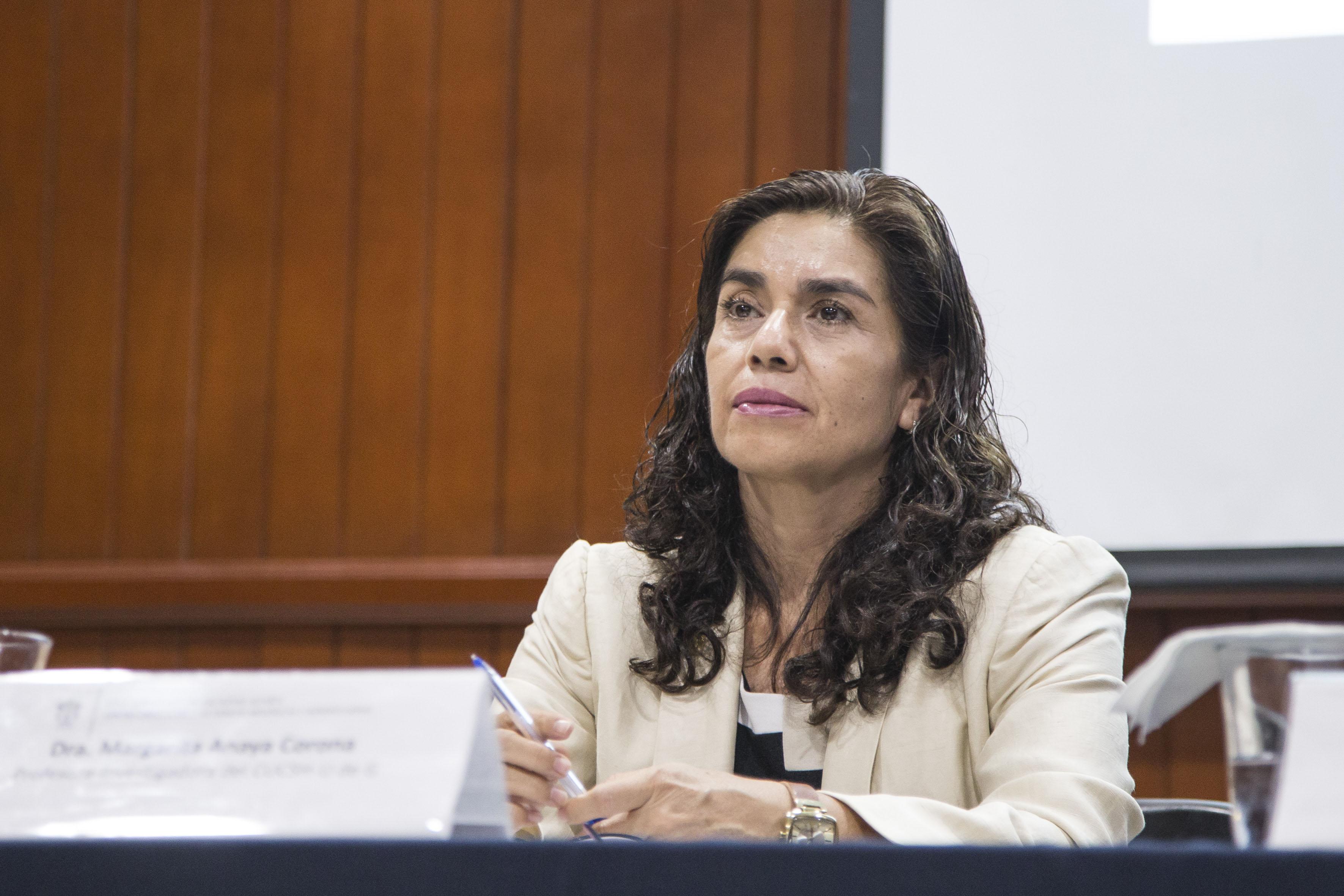 Dra. Margarita Anaya Corona investigadora adscrita al Departamento de Geografía y Ordenación Territorial del Centro Universitario de Ciencias Sociales y Humanidades (CUCSH)