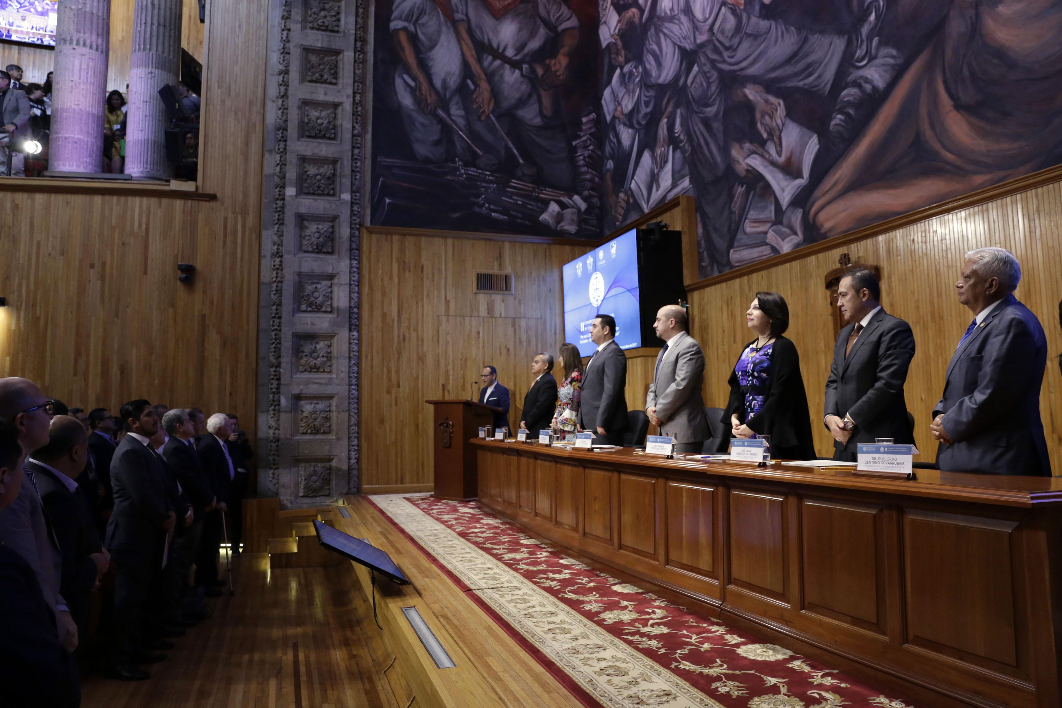 """Ponentes del acto inaugural del II Congreso de Responsabilidad Médica """"Por una cultura de prevención del conflicto""""."""