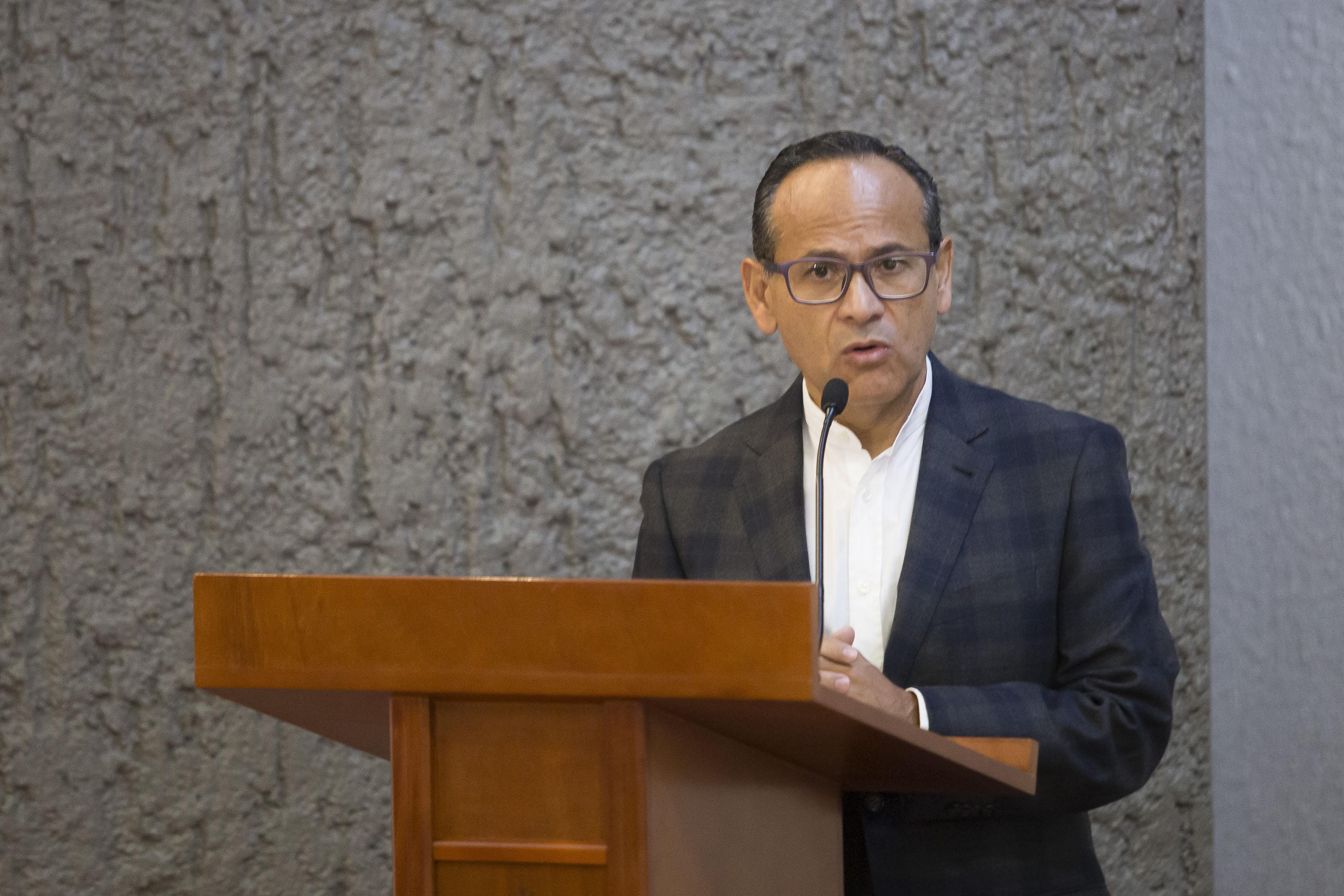 Dr.  Héctor Raúl Pérez Gómez, Director General del HCG, haciendo uso de la palabra