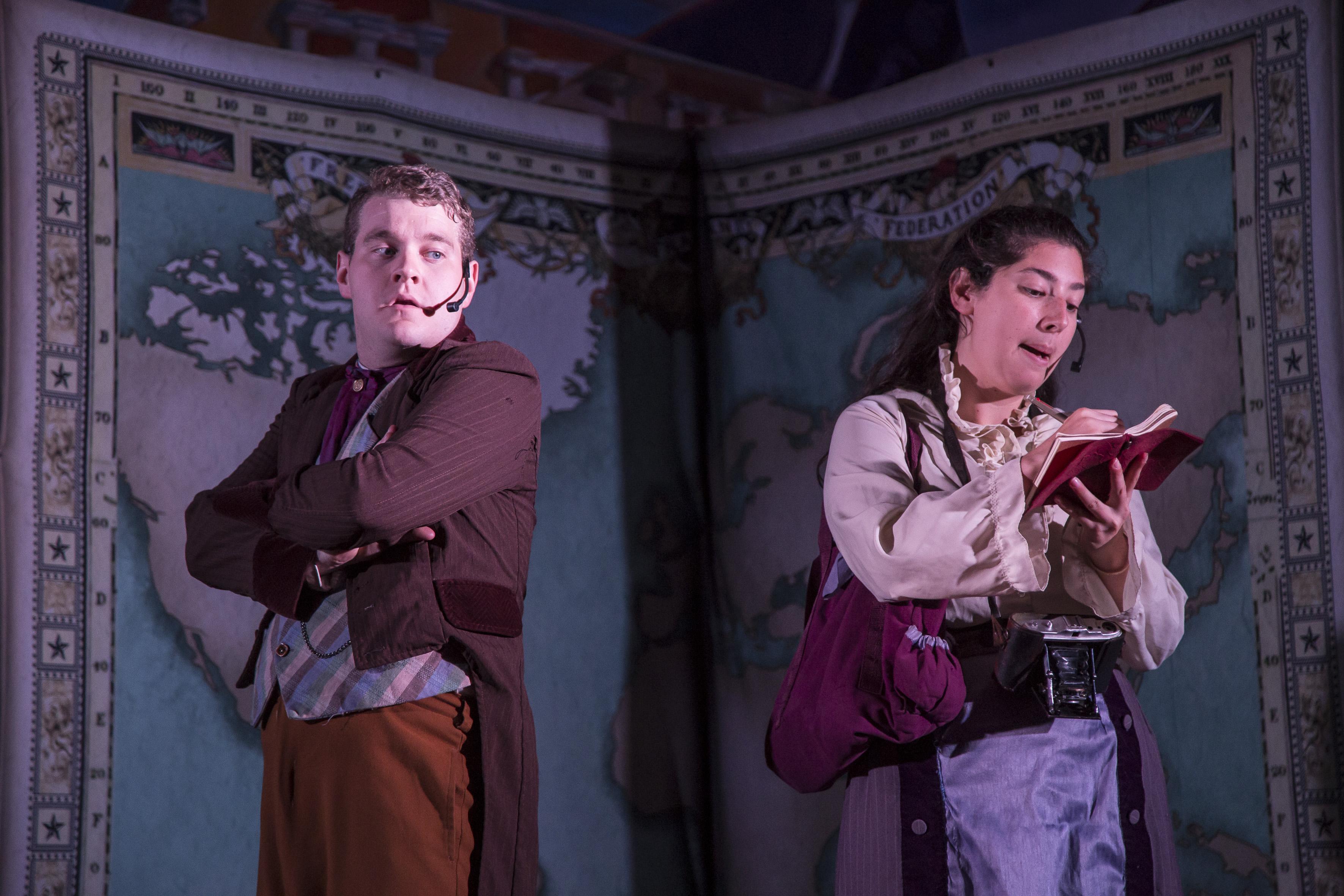 "Actores de la obra  ""Arround the world in 80 days"""
