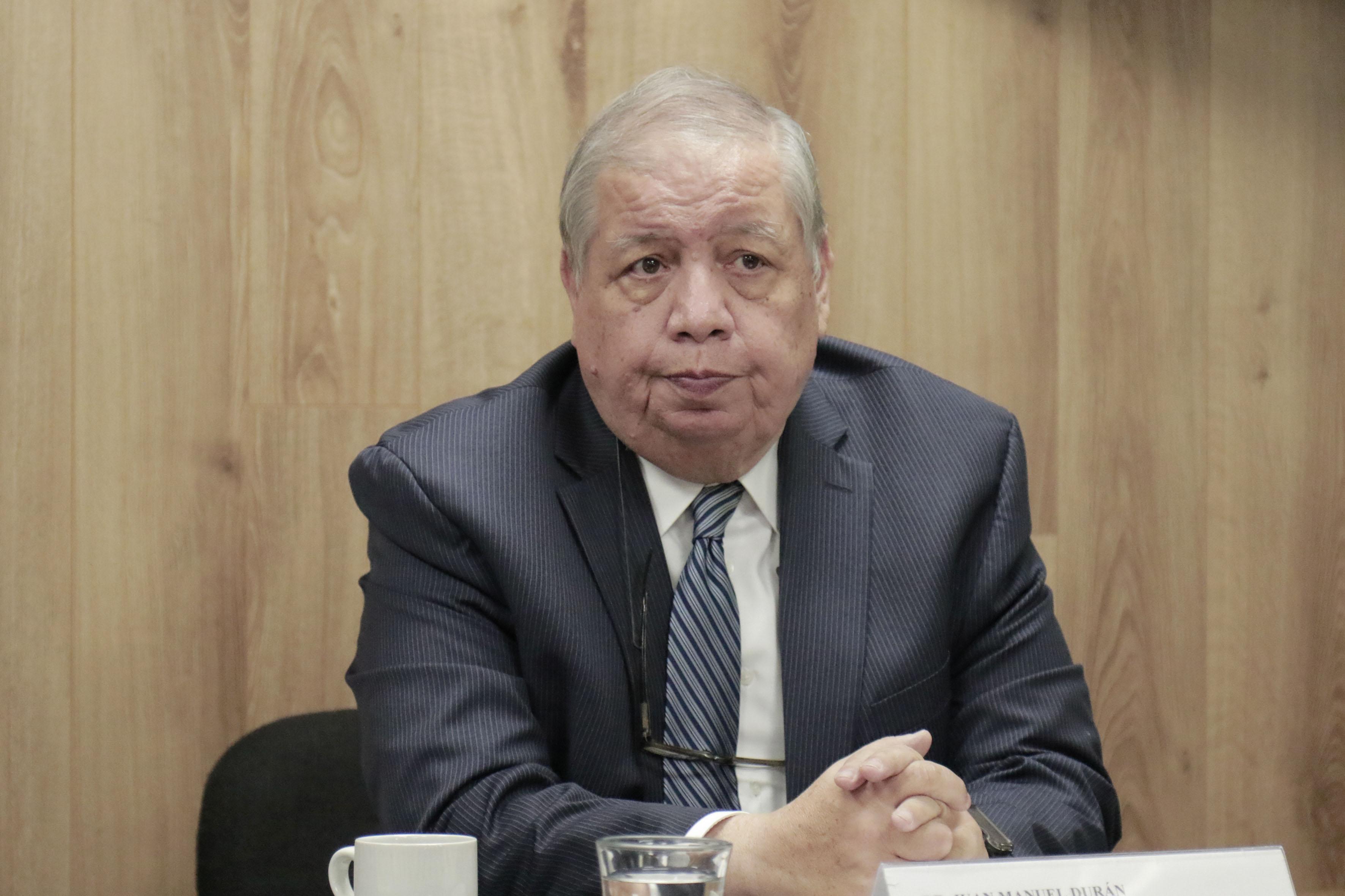 Director de la BPEJ, doctor Juan Manuel Durán Juárez