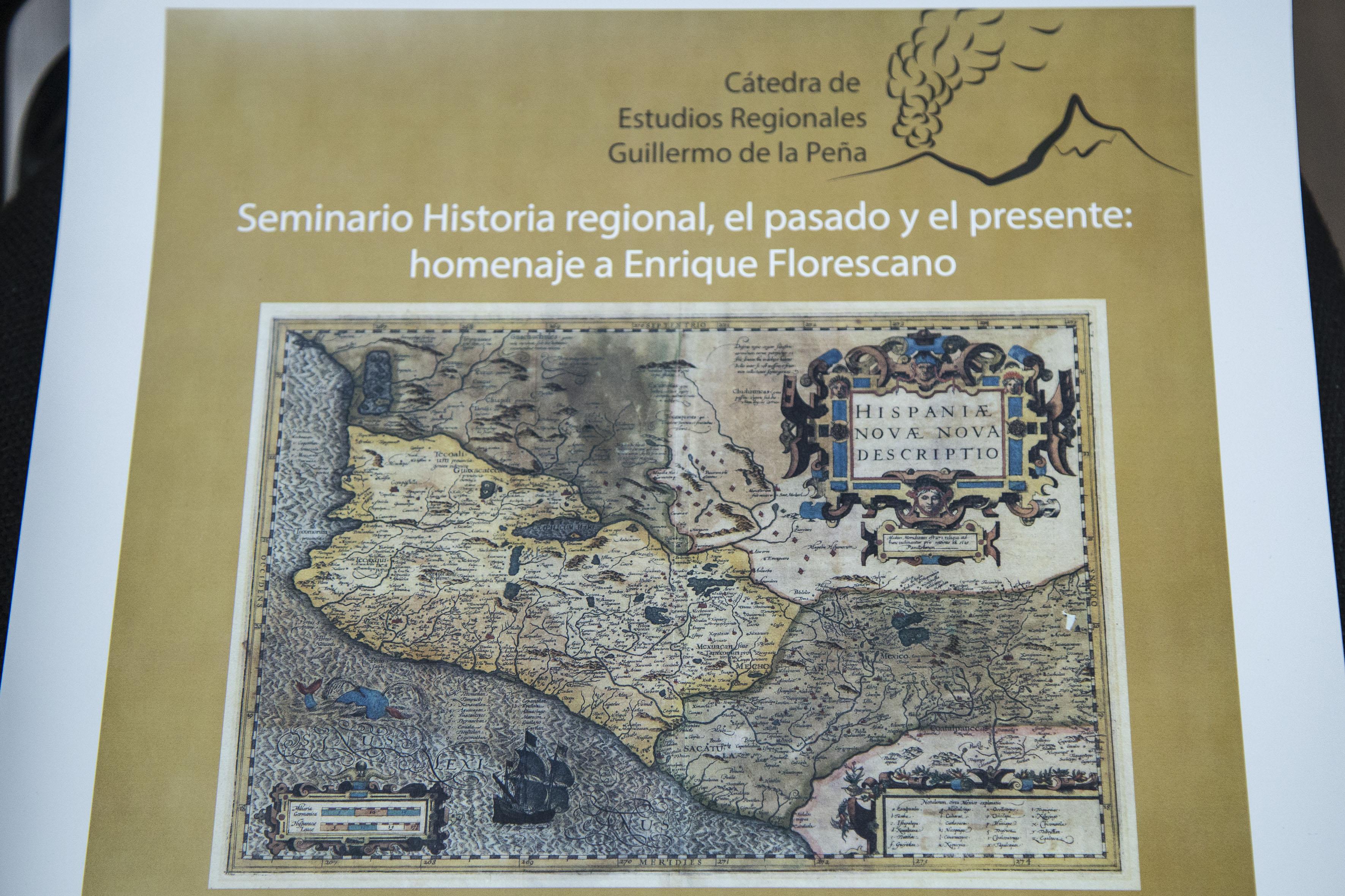 """Cartel informativo del Seminario """"Historia regional, el pasado y el presente: homenaje a Enrique Florescano"""""""