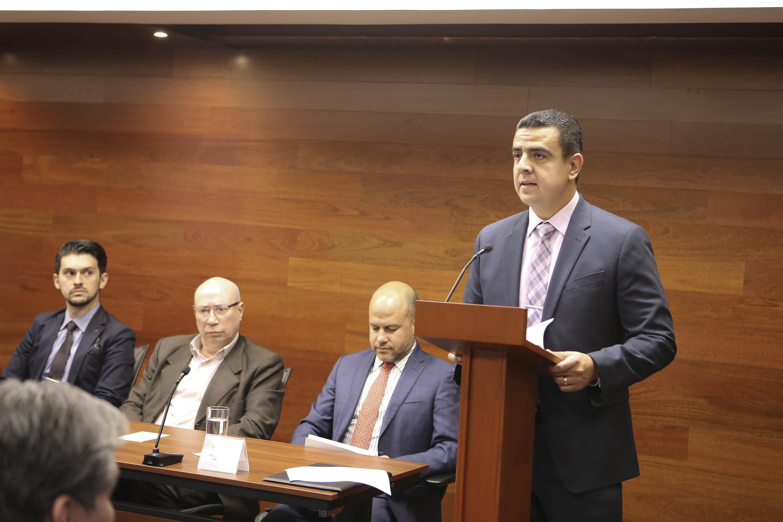 Coordinador General de Tecnologías de Información (CGTI), doctor Luis Alberto Gutiérrez Díaz de León, haciendo uso de la palabra