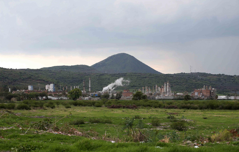 Vista panorámica de la zona industrial del municipio de Ocotlán, Jalisco.