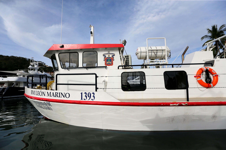 El barco se entregó en las costas del municipio de Cihuatlán
