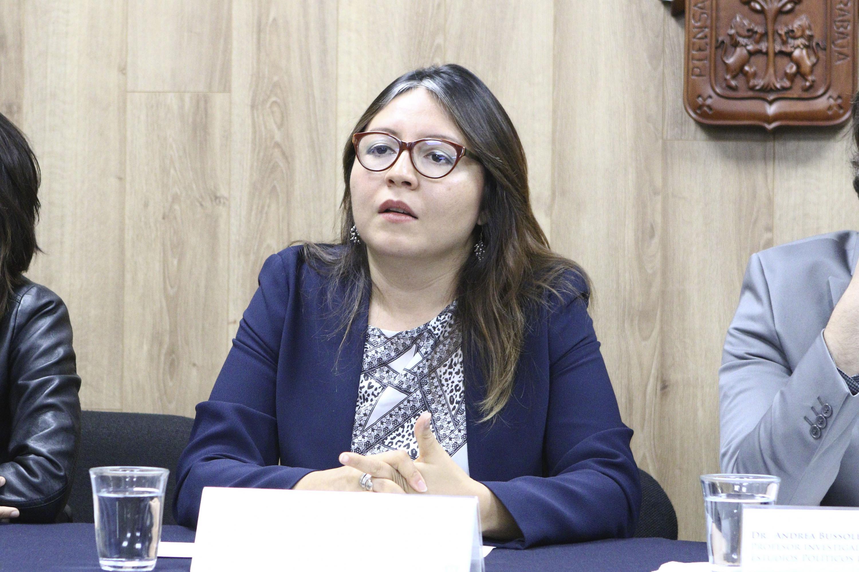 Doctora Mónica Montaño Reyes, miembro del Observatorio Electoral  y académica del Centro Universitario de Ciencias Sociales y Humanidades.