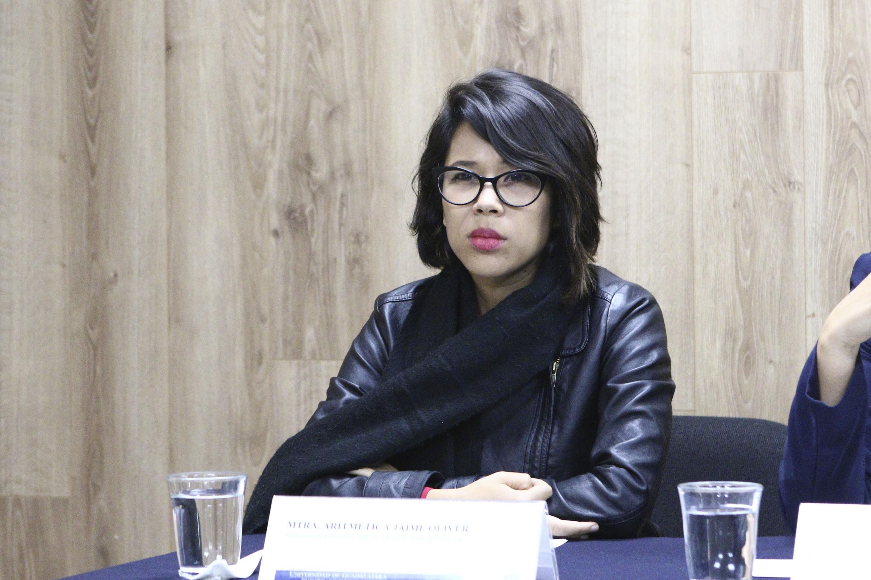 Investigadora del Departamento de Estudios Políticos del CUCSH, maestra Aritmetica Jaime Oliver.