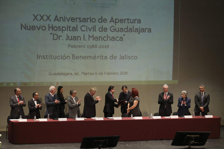 El Gobernador de Jalisco, Jorge Aristóteles Sandoval refrendó su apoyo a los Hospitales Civiles