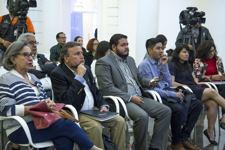 Público asistente a la rueda de prensa en el MUSA.