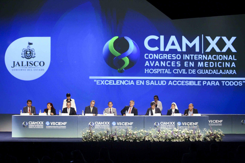 Clausura de la vigésima edición del Congreso Internacional Avances en Medicina (CIAM) del Hospital Civil de Guadalajara (HCG)