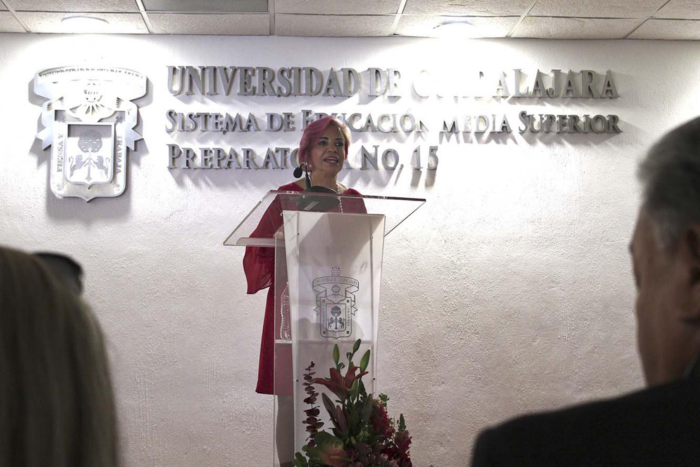 La directora de la preparatoria 15  rindió su informe de actividades 2017