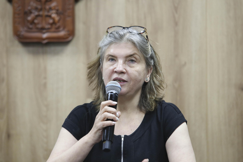 Doctora Valentina Davydova Belitskaya, investigadora del Departamento de Ciencias Ambientales del CUCBA.