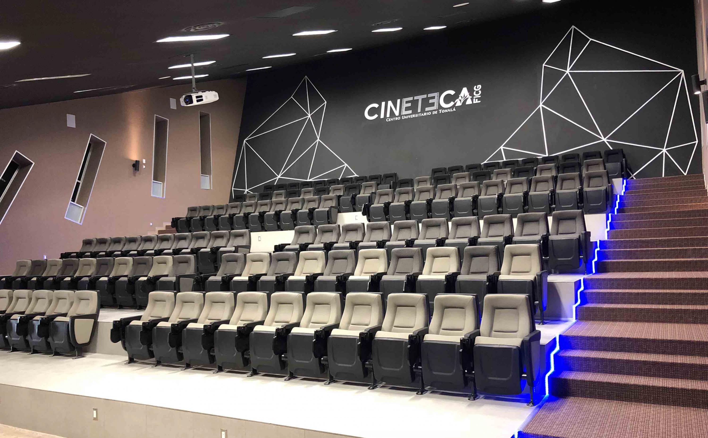 Vista panorámica de la Sala de Cine del Centro Universitario de Tonalá (CUTonalá), a inaugurarse en el mes de abril.