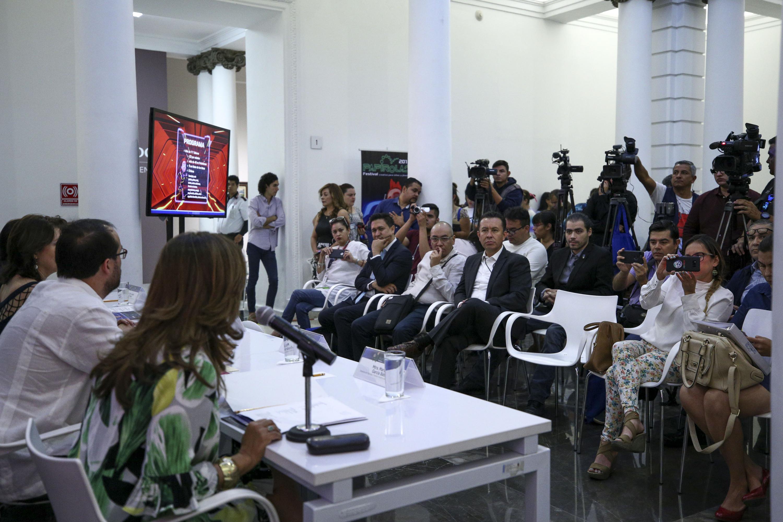 Presentación del programa del Festival Papirolas 2018 en la conferencia de prensa.