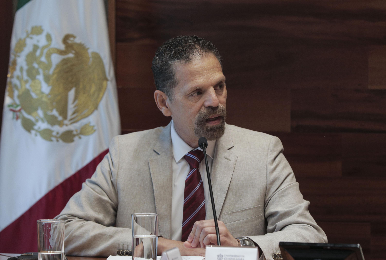 Director del Cencropam, Ernesto Martínez Bermúdez, haciendo uso de la palabra