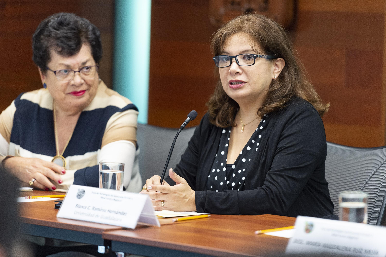 Especialista en Política Ambiental, Blanca Ramírez Hernández, participante del Foro; haciendo uso de la palabra.