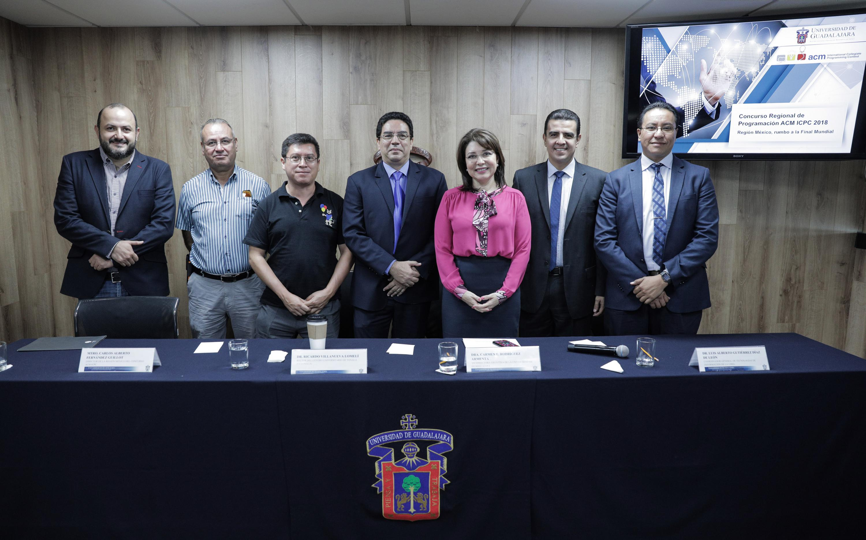 Rueda de prensa para anunciar el International Collegiate Programming Contest de la Association for Computing Machinery (ACM ICPC) 2018 Región México, que es la competencia con mayor prestigio internacional.