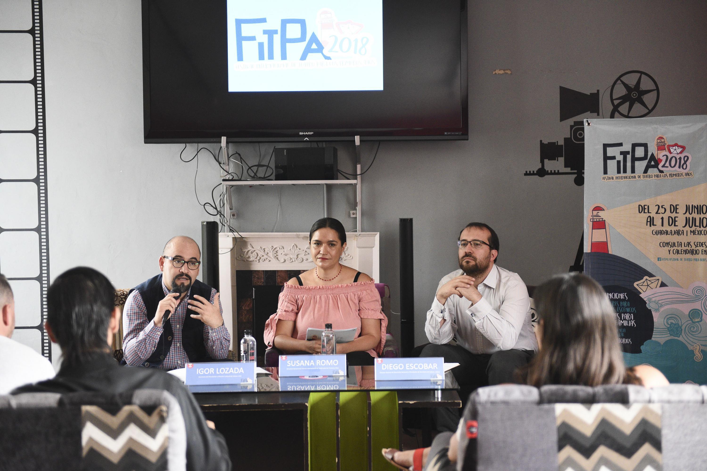 Secretario de Vinculación y Difusión Cultural de la Universidad de Guadalajara (UdeG), licenciado Ángel Igor Lozada Rivera Melo, haciendo uso de la palabra