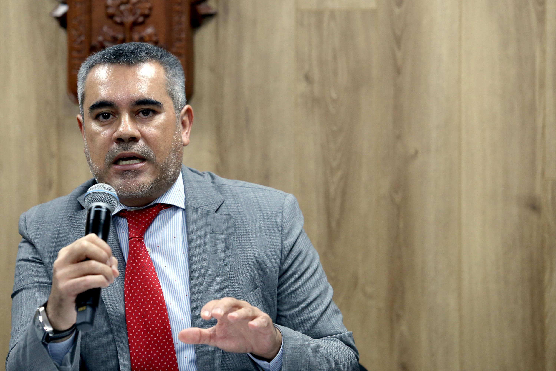 Doctor Axel Francisco Orozco Torres, responsable del Área de Justicia Penal, de la Coordinación de Innovación Educativa y Pregrado (CIEP)