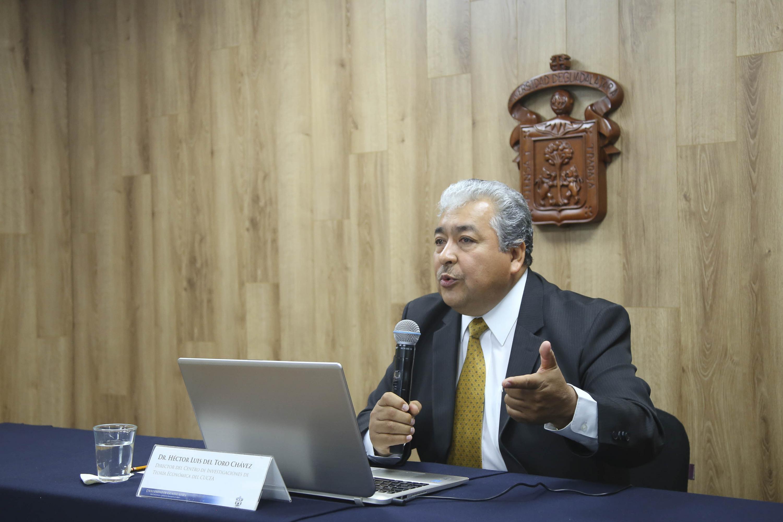 doctor Héctor Luis del Toro Chávez es el Director del Centro de Investigación de Teoría Económica, del Centro Universitario de Ciencias Económico Administrativas