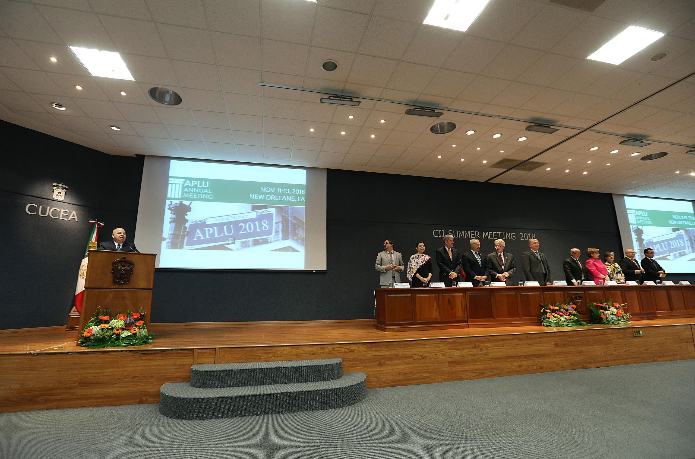 Inauguración de la Reunión de Verano de la Comisión de Iniciativas Internacionales de la Asociación de Universidades Públicas de Estados Unidos de América (APLU, por sus siglas en inglés)