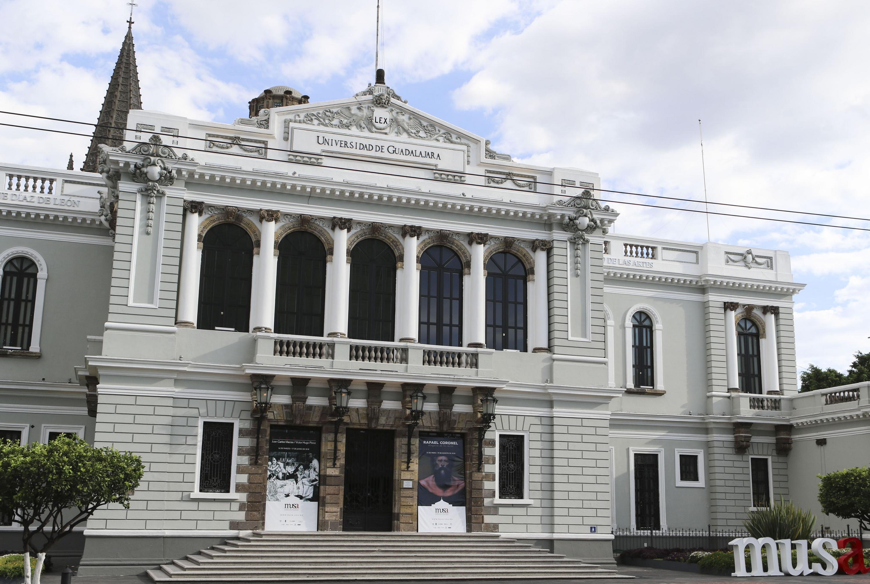 Fachada del Museo de las Artes (MUSA), de la Universidad de Guadalajara (UdeG).