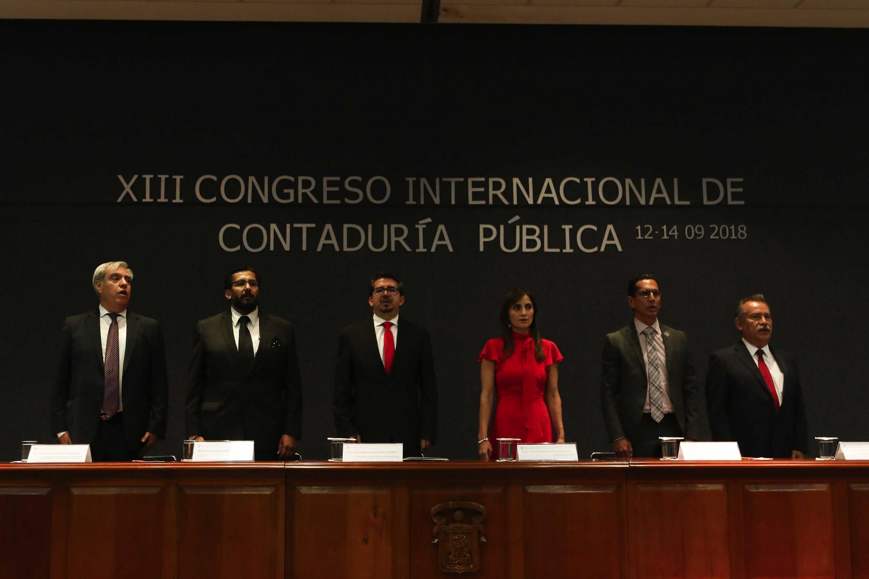 Inauguración del Décimo Tercer Congreso Internacional de Contaduría Pública, inaugurado el miércoles 12 de septiembre, en el Centro Universitario de Ciencias Económico Administrativas (CUCEA), de la Universidad de Guadalajara.