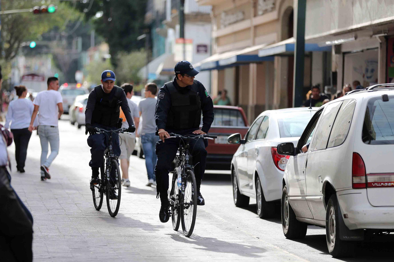 Biciagentes patrullando las calles