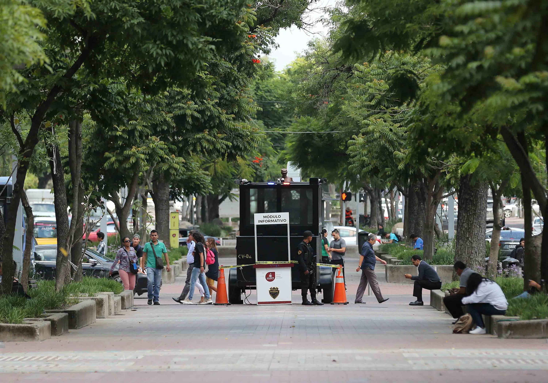 Caseta de vigilancia de la policía estatal de Jalisco