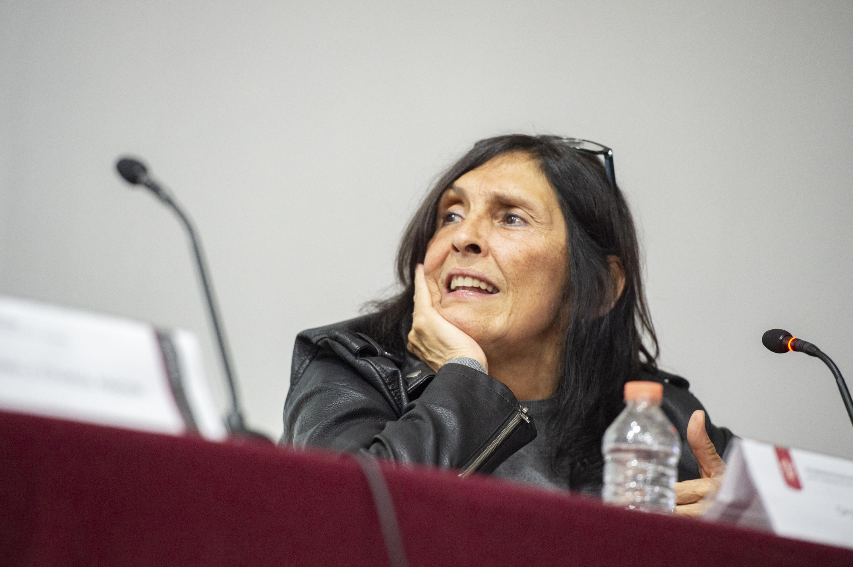 Doctora Rossana Reguillo Cruz,  Doctora en Ciencias Sociales, con especialidad en Antropología Social por el CIESAS-Universidad de Guadalajara; haciendo uso de la palabra.