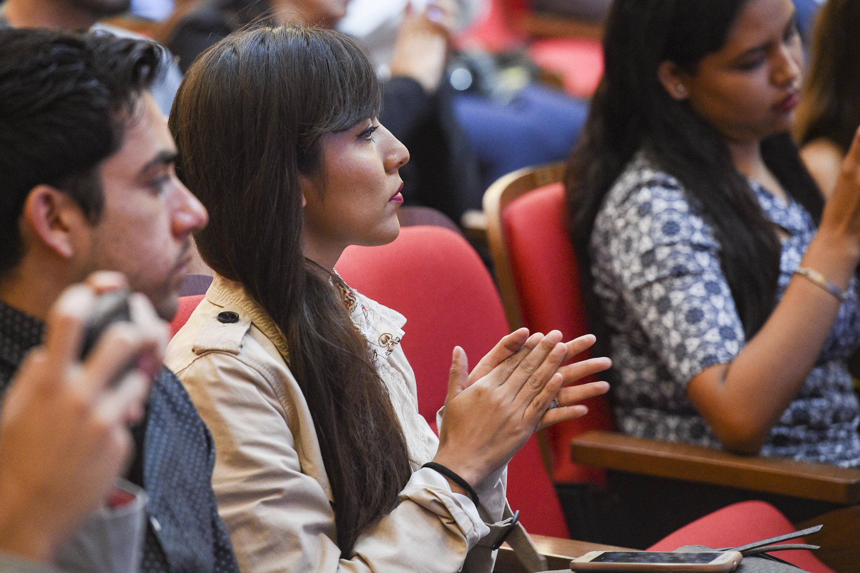 """Publico asistente a la conferencia magistral """"El desarrollo del turismo en México y la educación superior"""""""