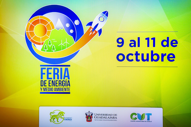 Cartel informativo sobre la Feria de Energía y Medio Ambiente